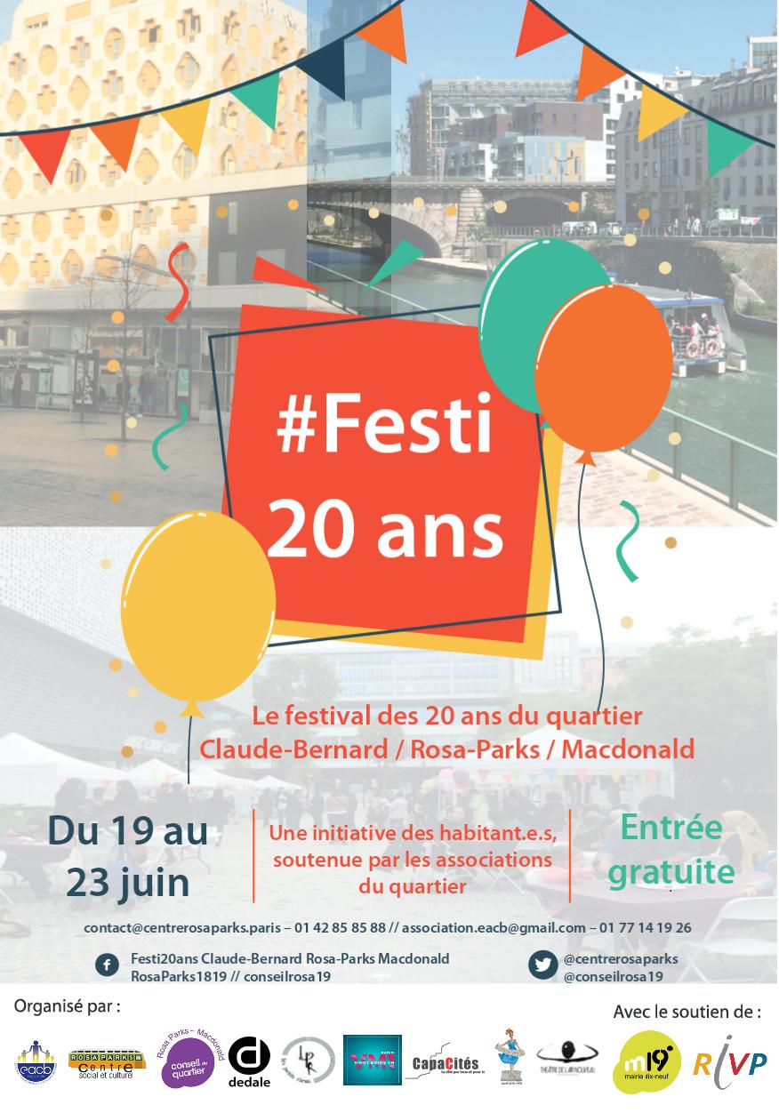 Festival des 20 ans du quartier Claude-Bernard