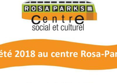 L'été au centre social et culturel Rosa-Parks