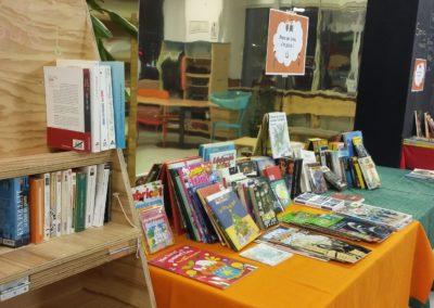 Distribution de livres au centre